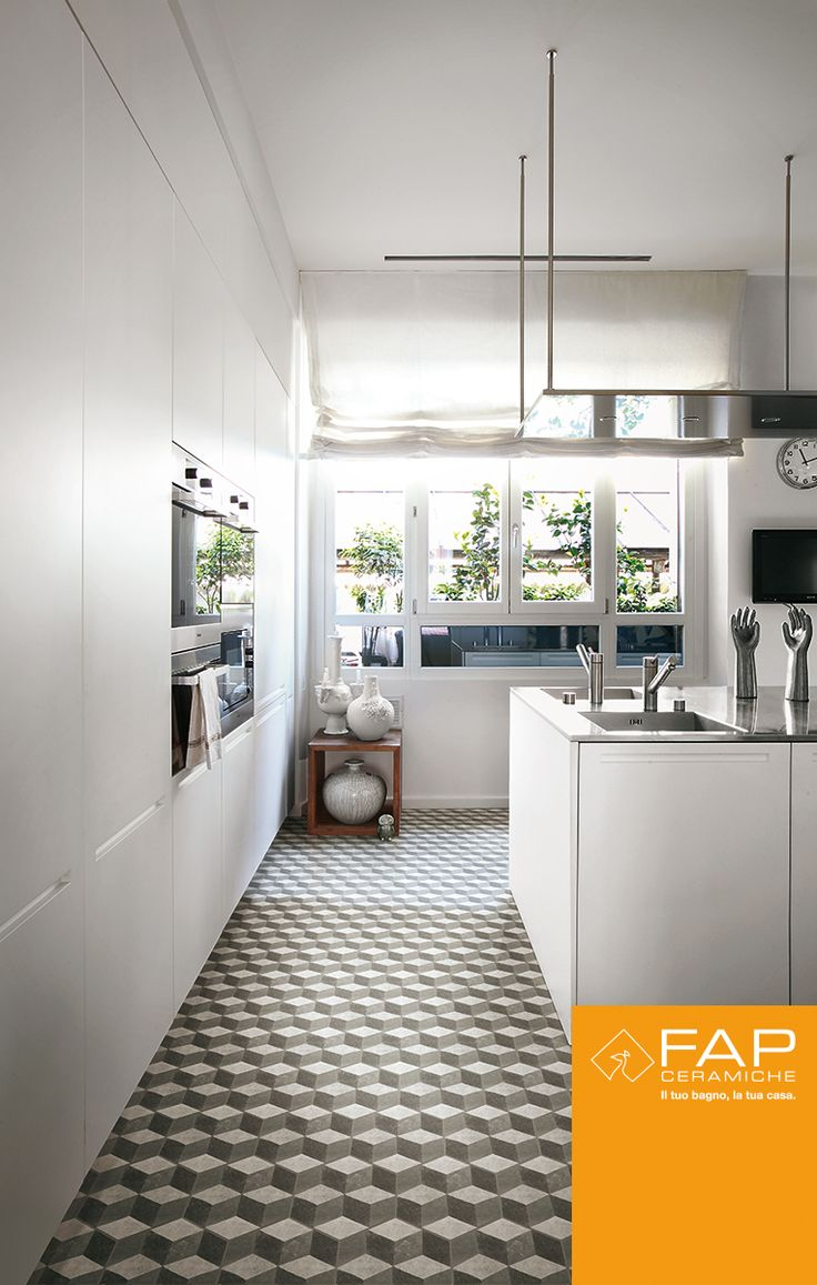 The charm of #cementine in a modern #kitchen, a new contemporary aesthetic blending functionality and beauty.