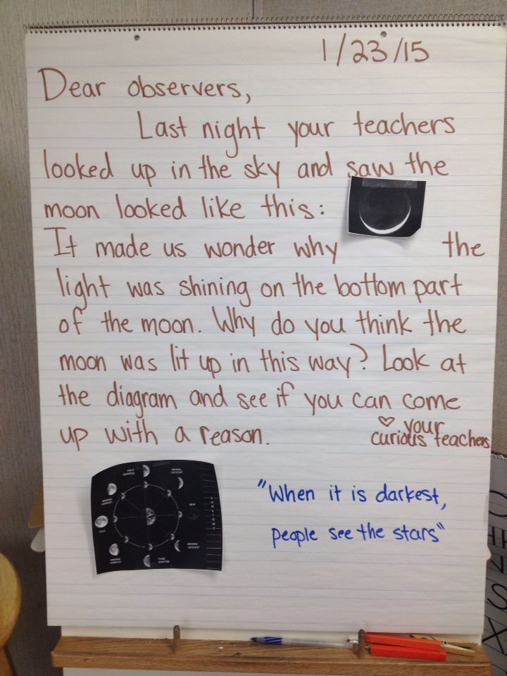 A Morning Message with a great example of connecting to current events to make learning relevant.