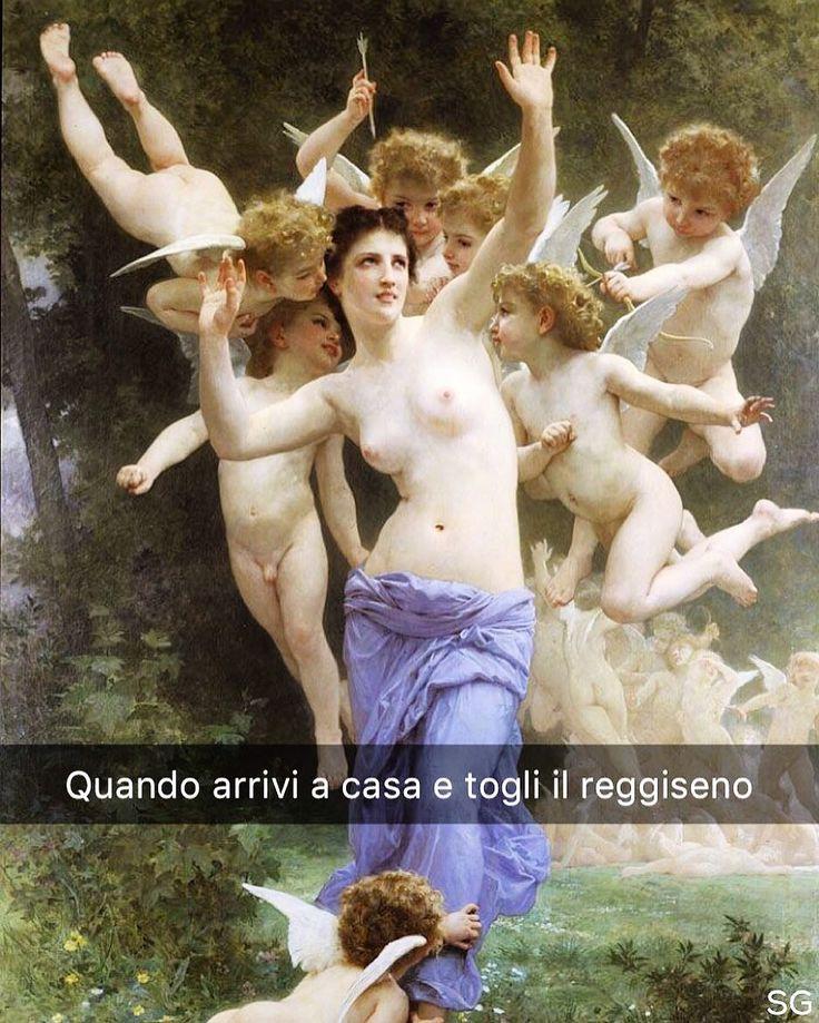 Snapchat: stefanoguerrera  L'invasione del regno di cupido - William Adolphe Bouguereau (1893)  #seiquadripotesseroparlare
