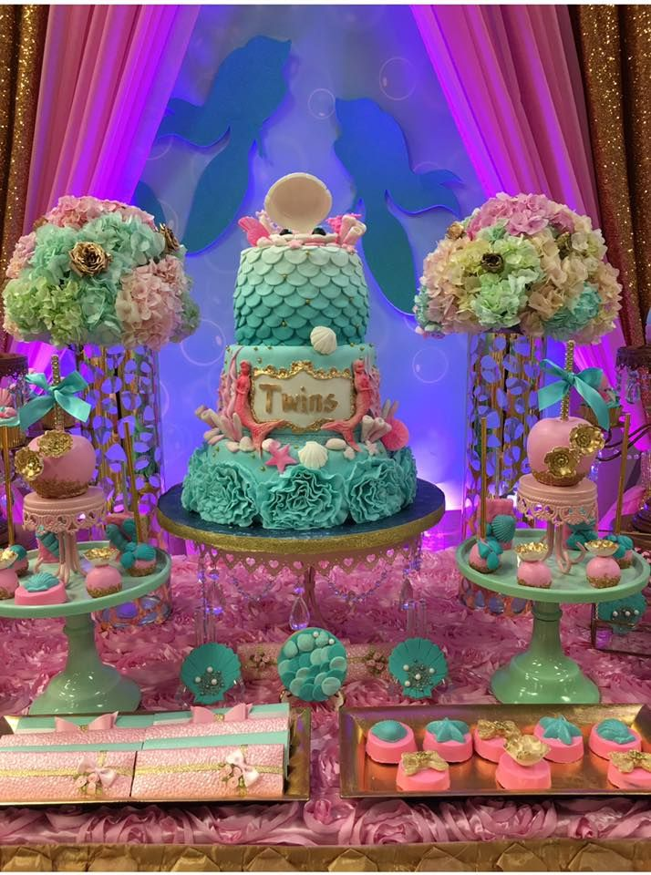 The 25+ Best Mermaid Baby Shower Decorations Ideas On Pinterest | Mermaid  Theme Birthday, Mermaid Birthday And Baby Shower Mermaid Theme