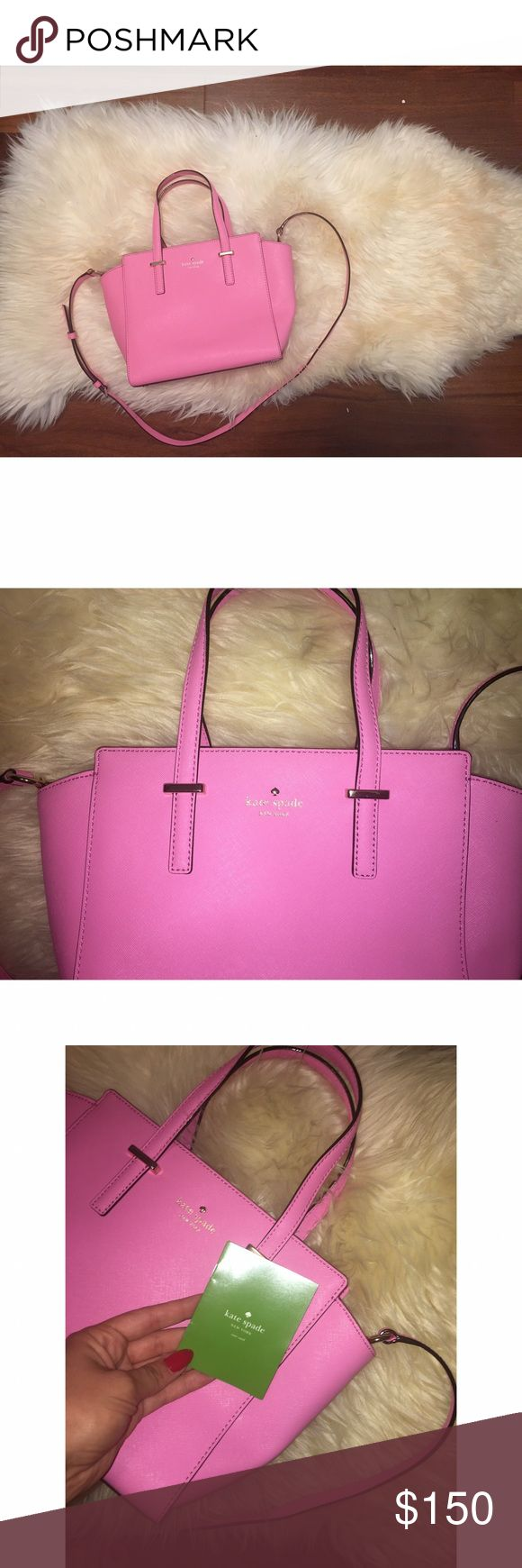 NWT Kate Spade Bubblegum Pink Bag 💕 This is a brand new, never been used purse from Kate Spade. It was purchased at Nordstroms 💕 kate spade Bags Mini Bags