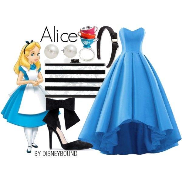 Disney Bound - Alice (Found on DisneyBound Polyvore)