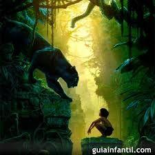 el libro de la selva una película  de  animales y un niño que solo tiene que sobre vivir con  valum  un oso