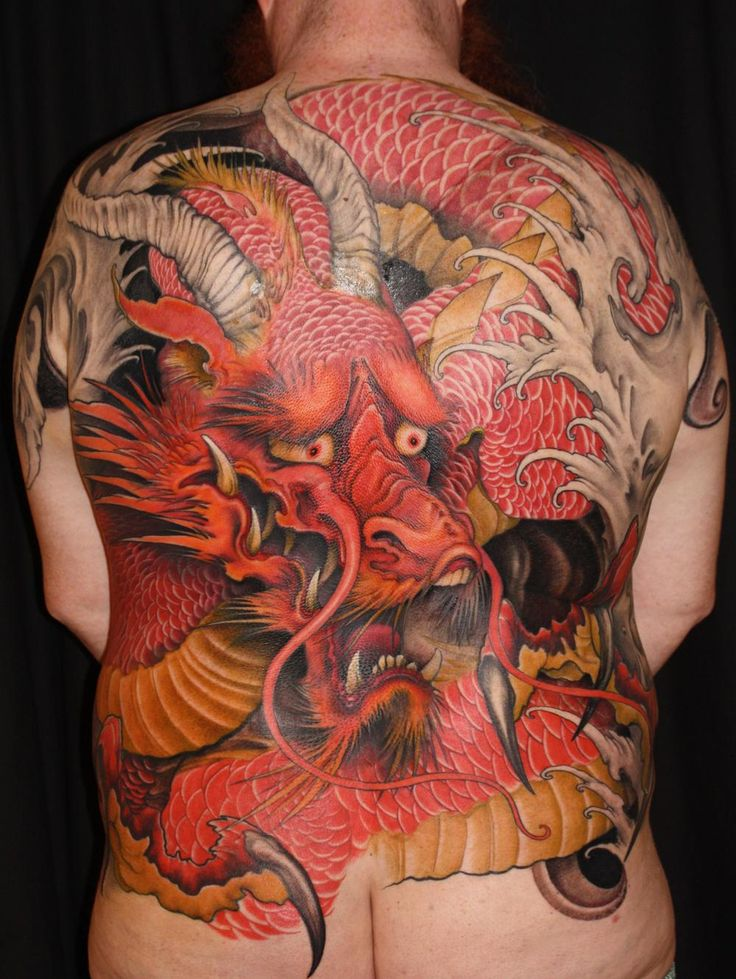 japanese dragon tattoo by Jeff Gogue of Grants Pass, OR