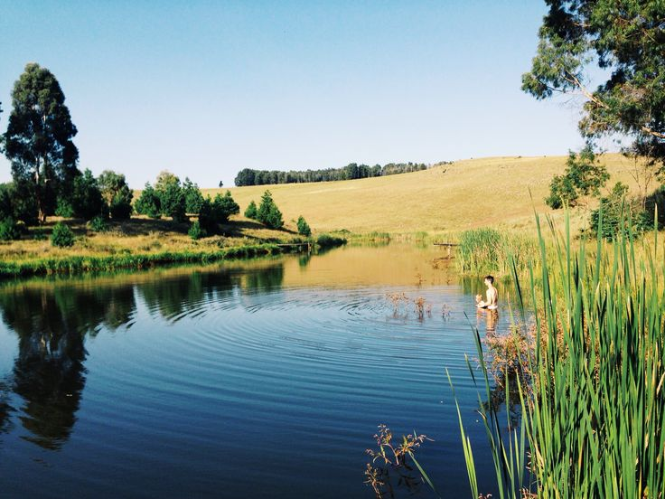 Swimming and fly fishing, Dullstroom, Mpumalanga.  South Africa.  www.friendswithjenny.com
