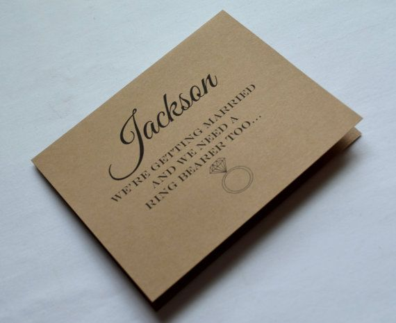 Will you be our ring bearer card Ring by invitesbythisandthat