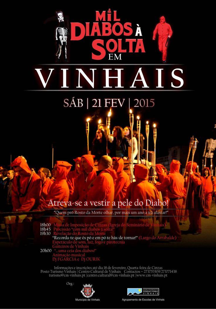 Diabos em Vinhais, dia 21 de fevereiro de 2015 | A. Montesinho Turismo