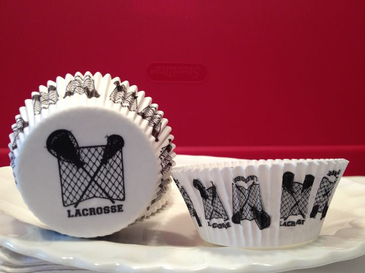 The original & only Lacrosse Cupcake Liner on the market. By Other Sports & Stuff, LLC