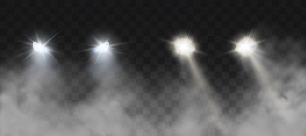 Download Car Headlights Shining On Road In Fog At Night For Free Light Effect Photoshop Smoke Background Black Watercolor Tattoo