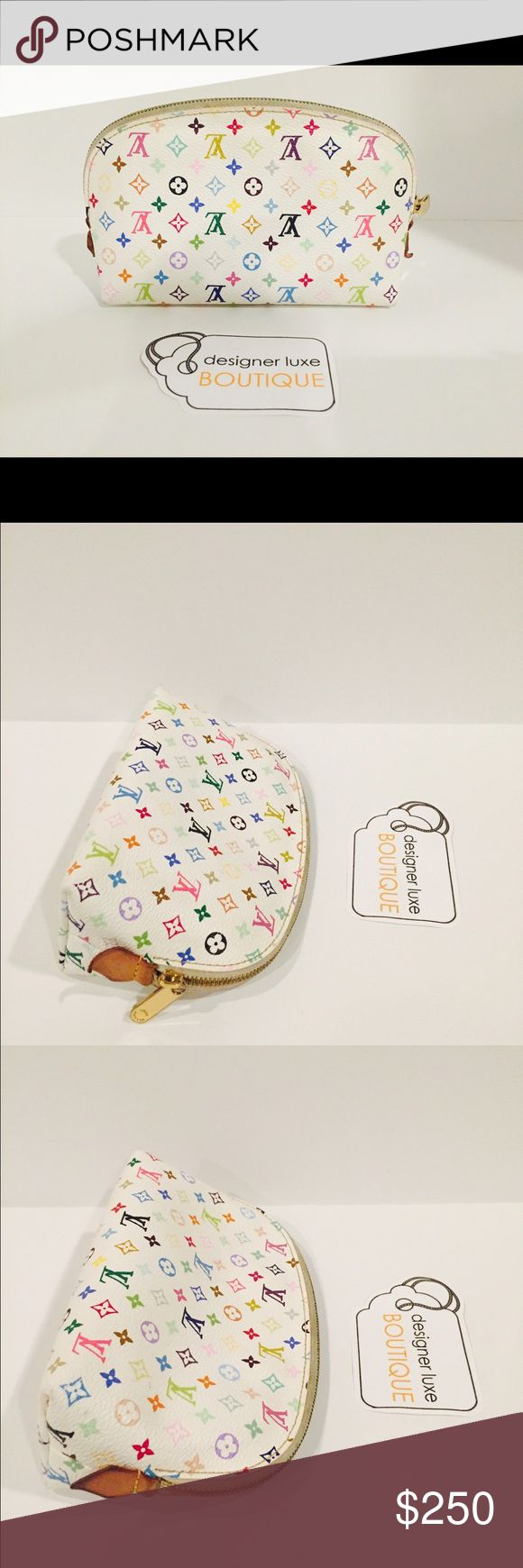 Authentic Louis Vuitton Multicolor Cosmetic Pouch. Louis Vuitton Multicolor Cosmetic Pouch. Inside shows wear. No peeling. Price is firm! No offers, no trades, selling only. Louis Vuitton Bags Cosmetic Bags & Cases