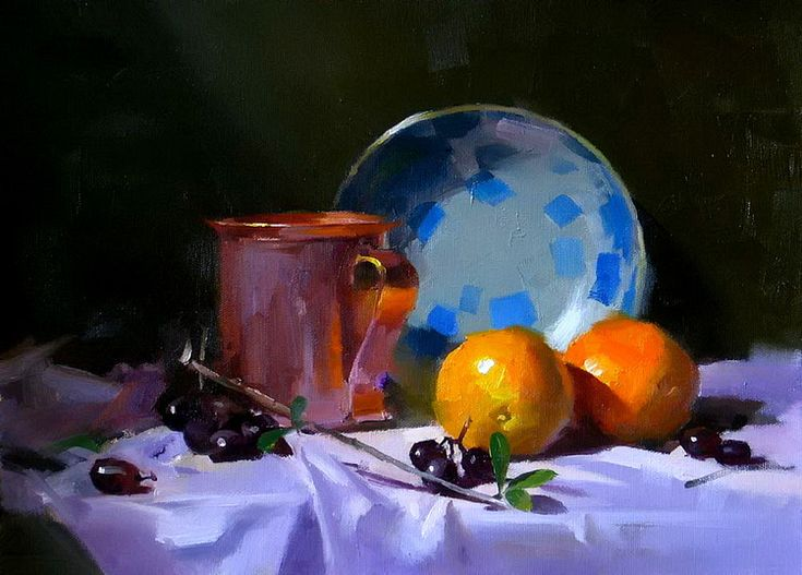 qiang huang art paintings still life