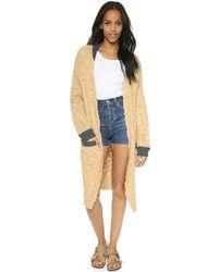Manteau en tricot brun clair Sea