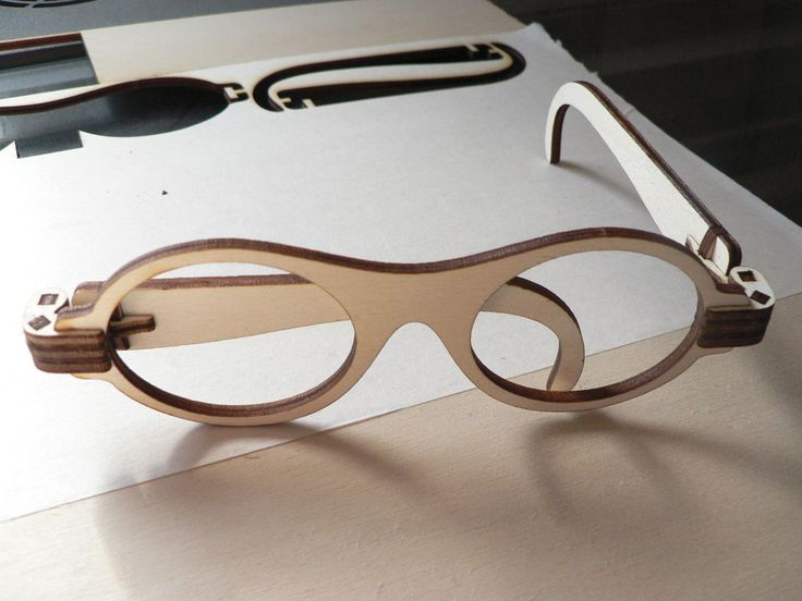 Laser cut foldable wooden glasses