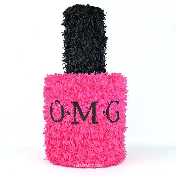 omg nail polish pinata | bachelorette spa party http://emmalinebride.com/bachelorette/spa-party/