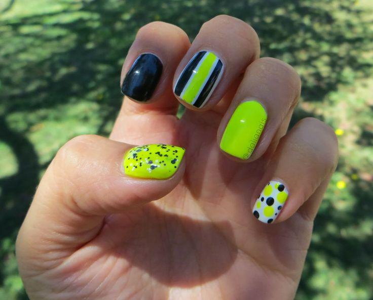 Neon Mix&Match Nail art