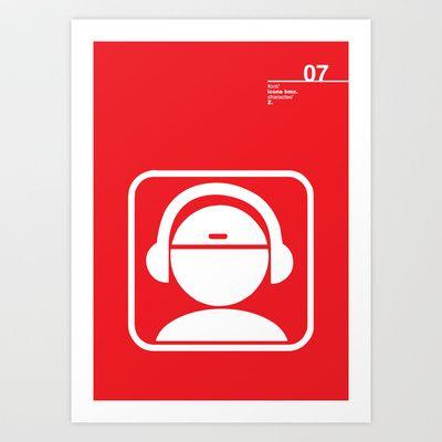 07_iconobmx_Z Art Print by Iris & Floss - $18.00