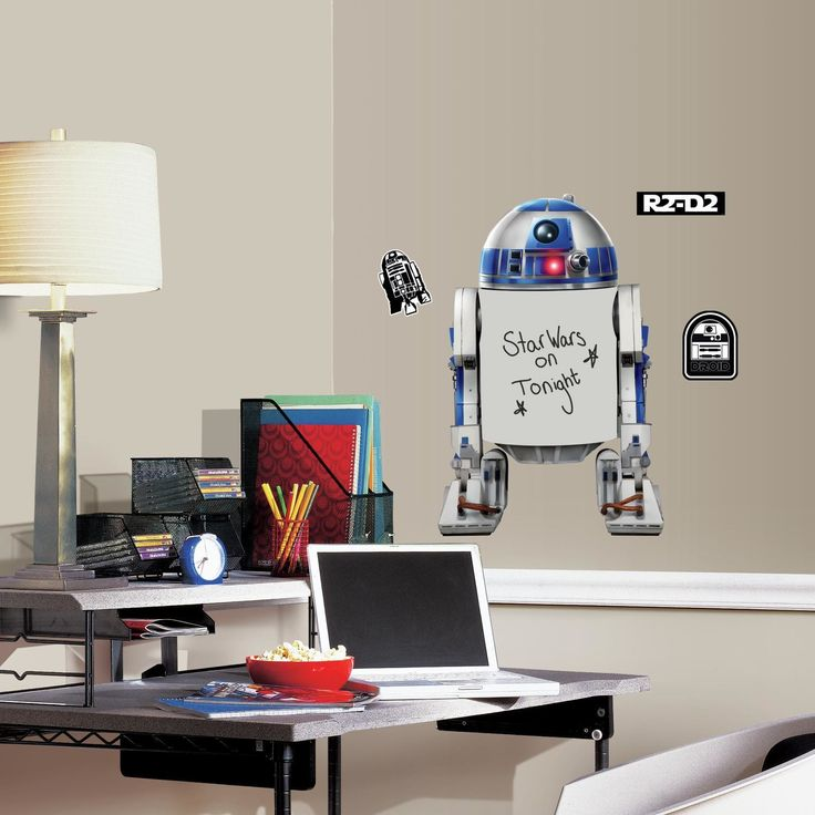 Star Wars R2-D2 Dry Erase Peel and Stick Giant Wall Decal