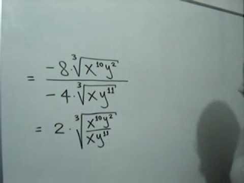 División de radicales del mismo índice: Julio Rios explica la división de radicales del mismo índice