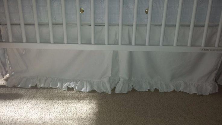 Pottery Barn Kids RUFFLE crib skirt WHITE #PotteryBarnKids