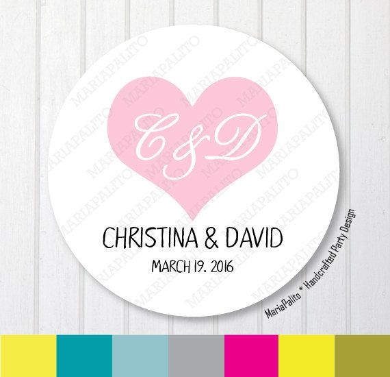 Personalize your wedding using Wedding Stickers Thank You Wedding Stickers  by Mariapalito