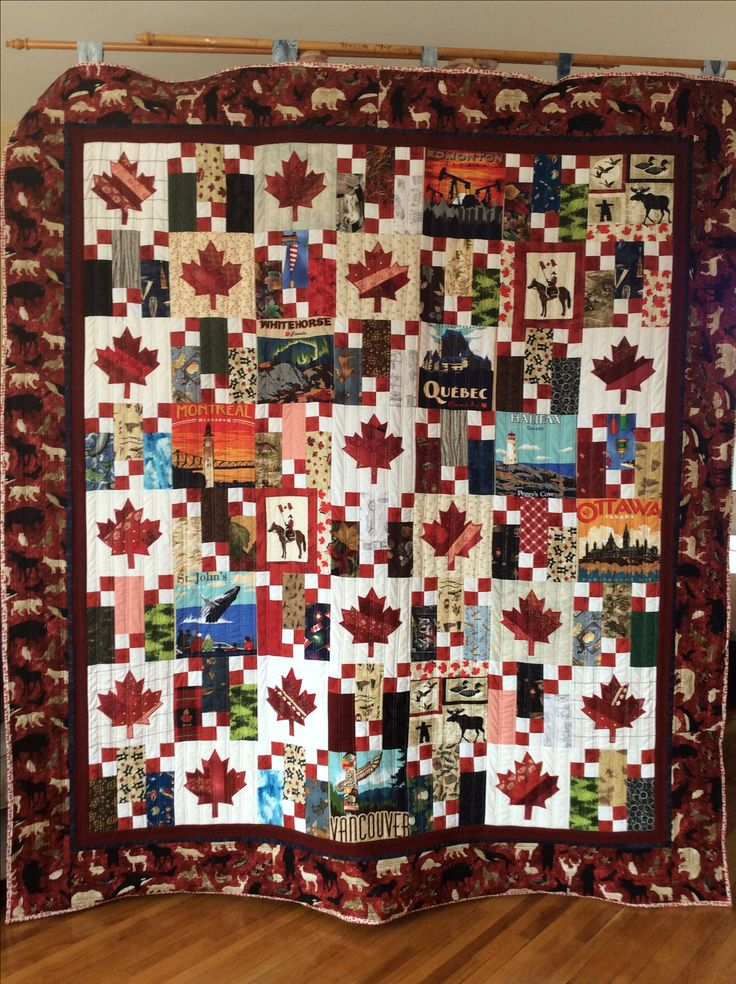Oh Canada Quilt. To celebrate Canada's 150th birthday!