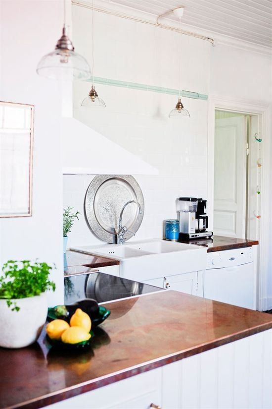 kitchen styling and renovation inspiration - Copper Countertop
