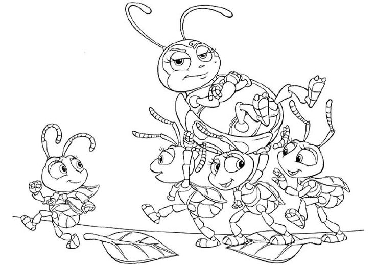 12 best Disney Bugs Life Coloring Page images on Pinterest | A ...