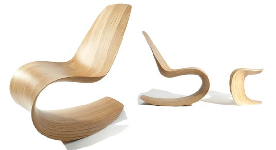 Savannah Bent Wood Rocking Chair By Jolyon Yates