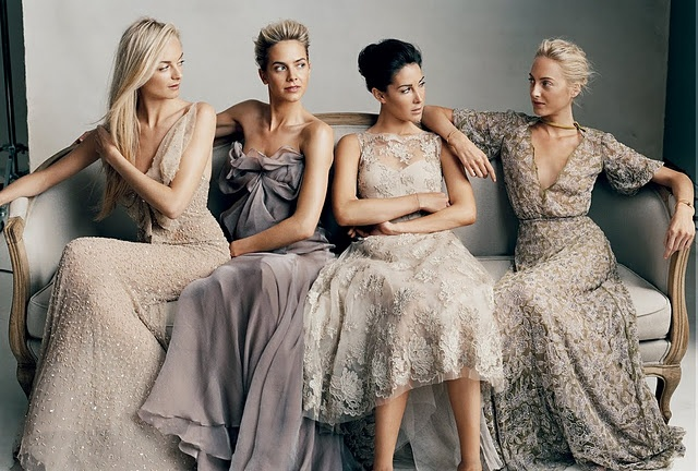 Stylish bridesmaids stealing the brides thunder perhaps?