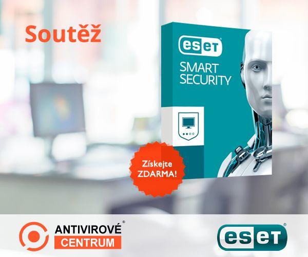 Získejte zdarma ESET Smart Security, více o soutěži na stránce: https://www.antivirovecentrum.cz/aktuality/eset-smart-security-10-zdarma.aspx
