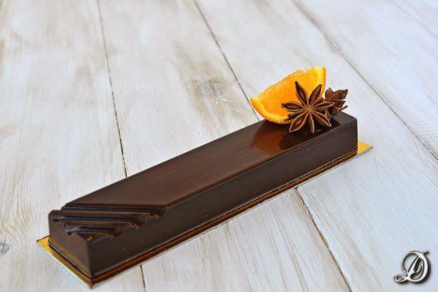 Turrón de Chocolate con Sablée Bretón y Gelatina de Mandarina y Anís Estrellado