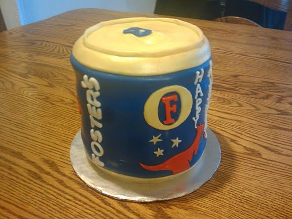 Fosters Beer Can Cake