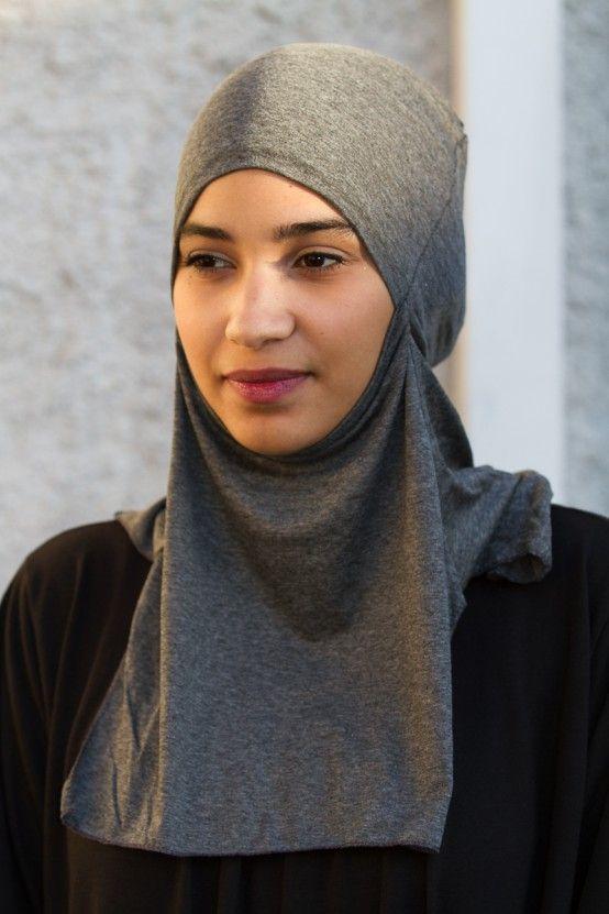 Sous Hijab long gris chiné foncé