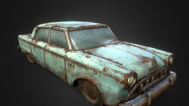 I always found the old cars you see sitting inside barns and on the sides of roads interesting, for them, the journey's over, and the world they knew has long since ended.<br>Modeled in 3DSMax 2015, textured in Substance Painter. Painting this was both really fun and a total pain =w=