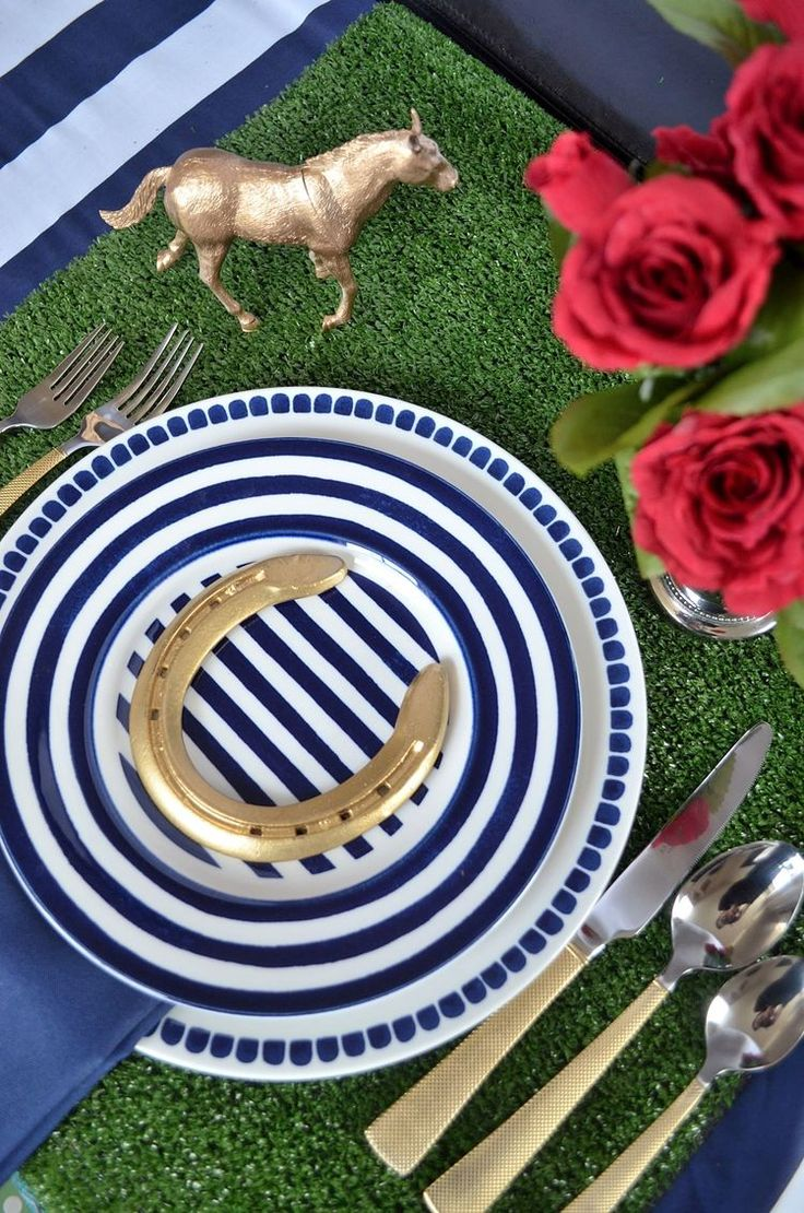 Kentucky Derby Table Setting Idea                                                                                                                                                                                 More