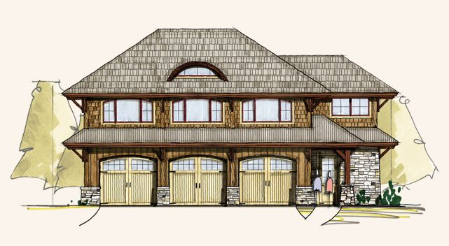 Elm carriage house carriage house plans carriage house for Carriage house plans cost to build