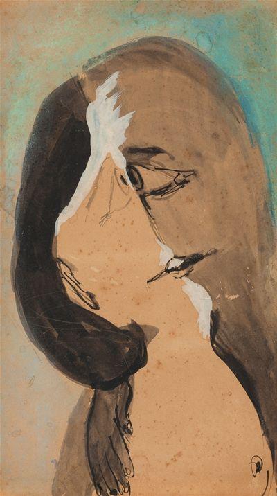 Artwork by Joy Hester entitled Lovers