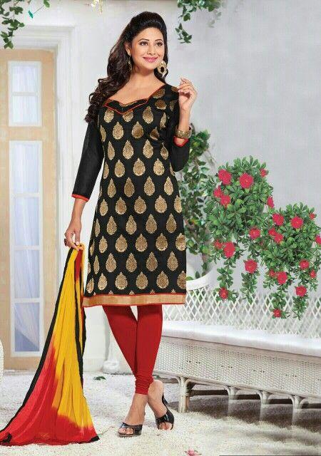 Black Banarasi Silk Dress Material☆☆ Explore  fabricmode.com