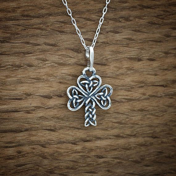 Celtic Shamrock My ORIGINAL Charm or Earrings STERLING
