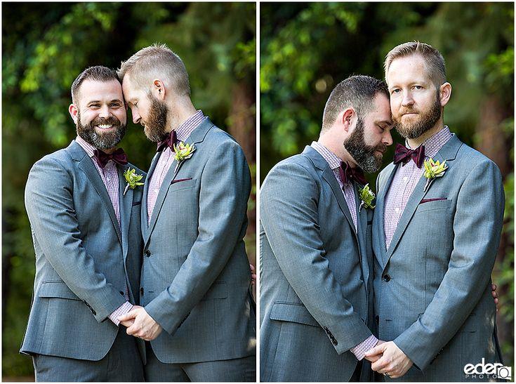Same sex wedding portraits in La Jolla, CA.
