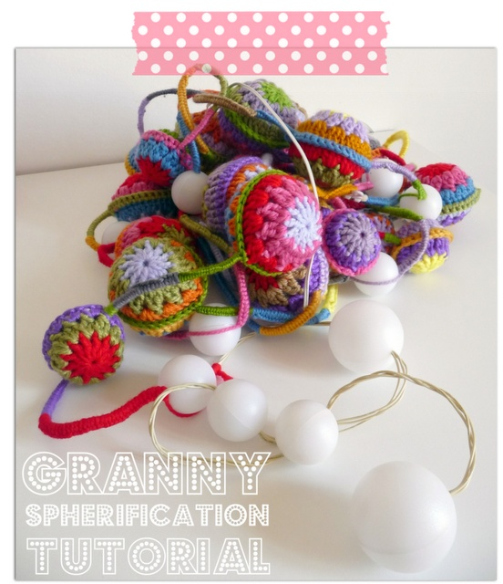 Crochet Hair Garland : Spherification of granny! Free tutorial. These would be fun for ...