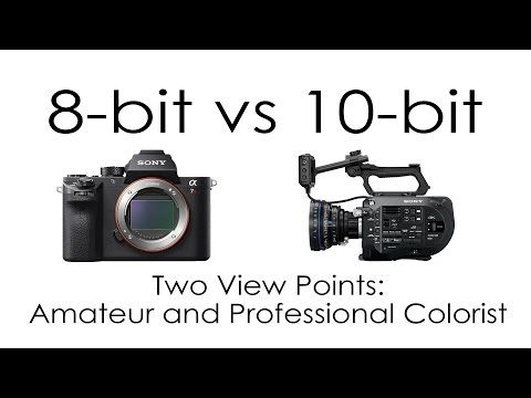 8 Bit Vs 10 Bit Cameras From Two View Points Amateur And