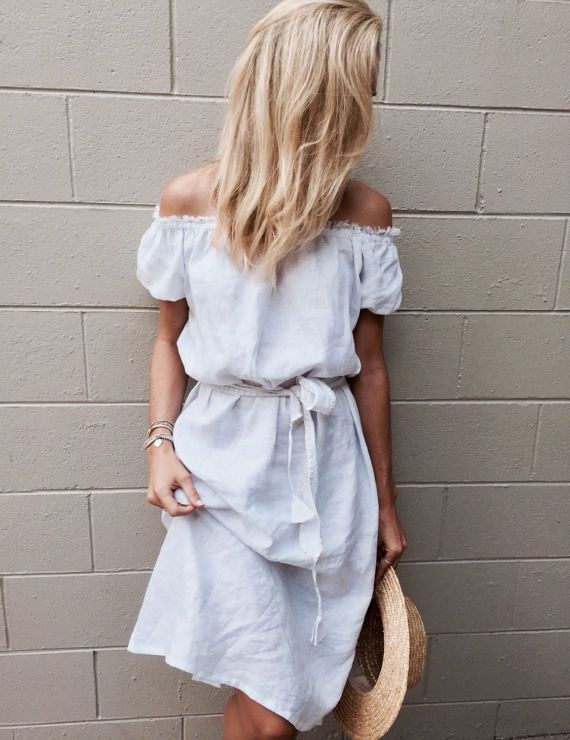 The Cove Dress White Linen Midi Dress Off The by ljcdesignss