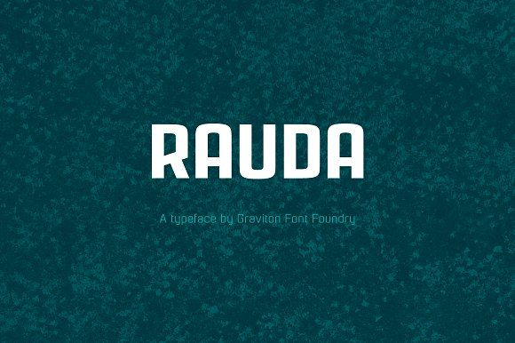 Rauda Font Family by Graviton Font Foundry on @creativemarket
