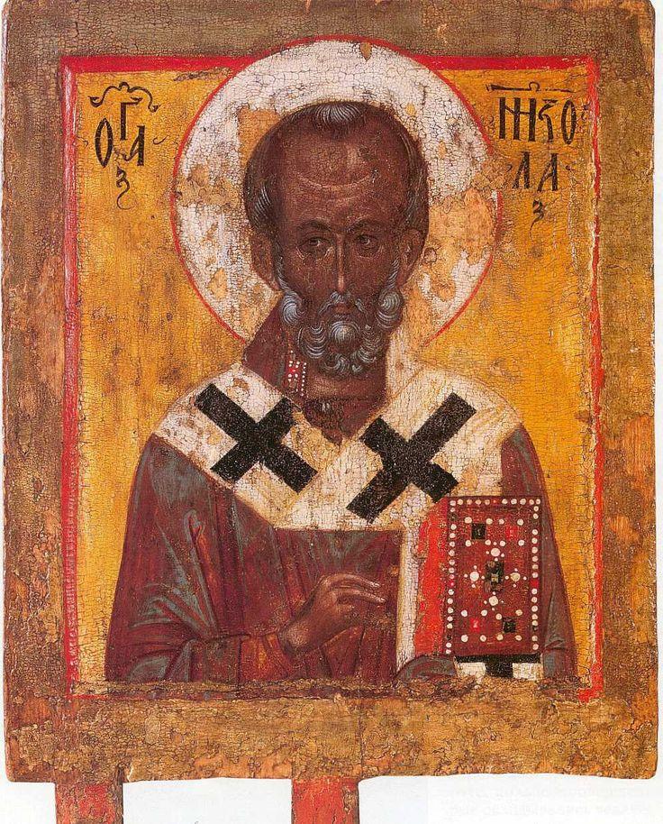 Свт. Николай. Икона. Русь. Конец XIV - начало XV века