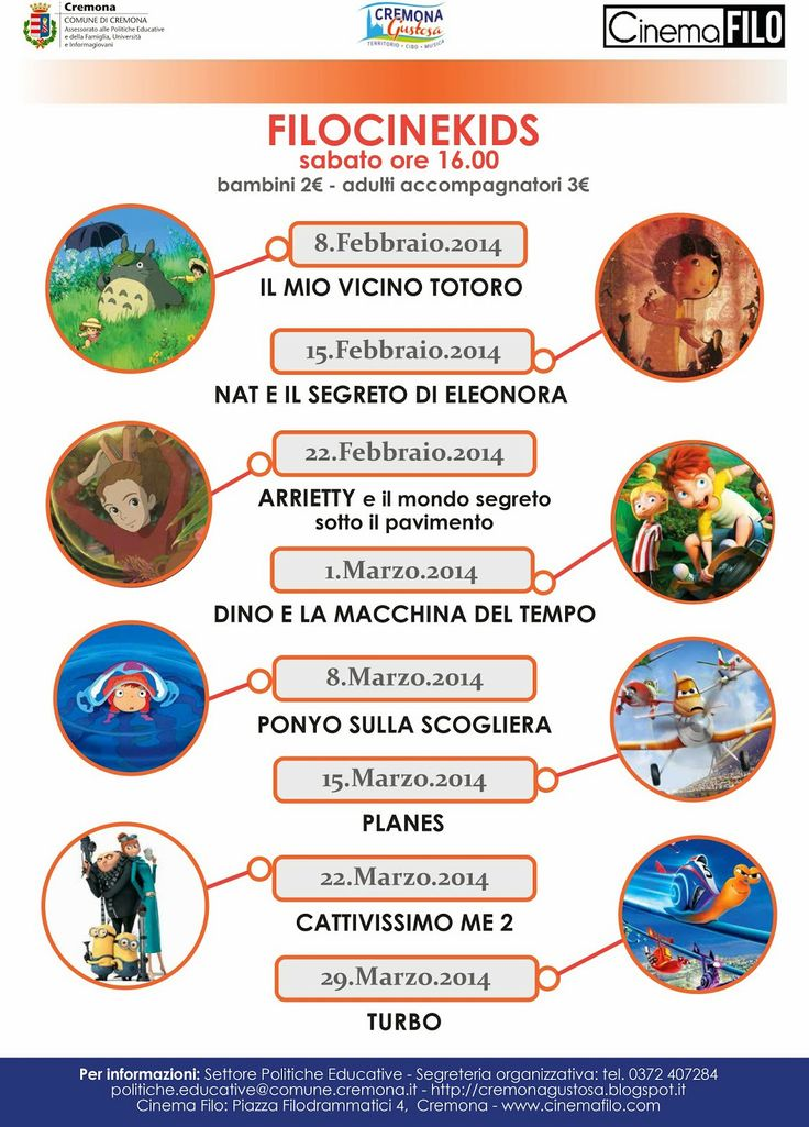 """15 Febbraio 2014 -CinemaFilo di Cremona - """"Filocinekids"""": proiezione de """"Nat e il segreto di Eleonora"""""""