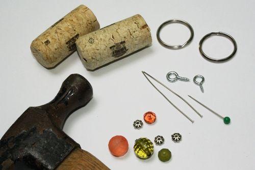 Wine Cork Key Chains Craft at Wine4.Me/blog