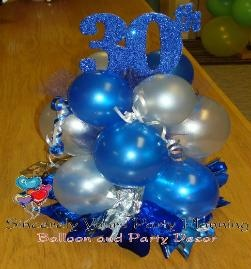 BALLOON CENTERPIECES for Birthday, Anniversary, Sweet 16, Mitzvah