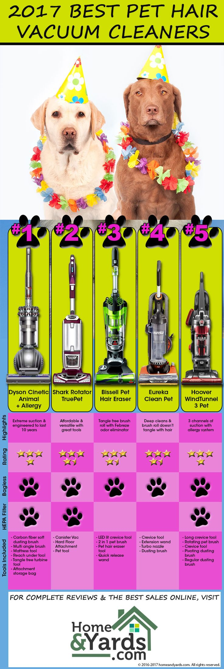 2017 Best Vacuum Cleaners for Pet Hair Infographic