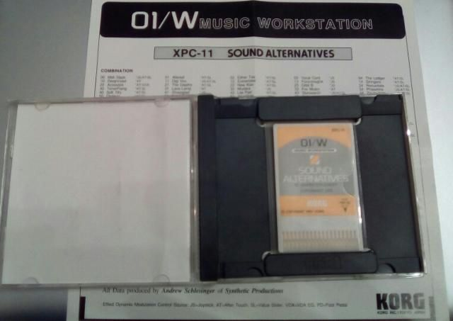 Korg 01W PCM card XPC11